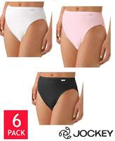 Jockey Elance Ladies' 6 Pack French Cut Panties Size White & Black