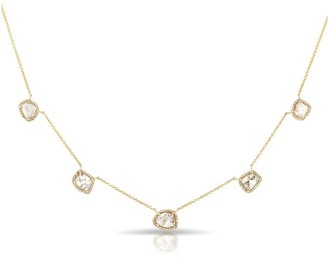 Anne Sisteron Yellow Gold Diamond Slice Hailey Necklace