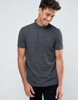Asos Polo Shirt In Pique With Button Down Collar
