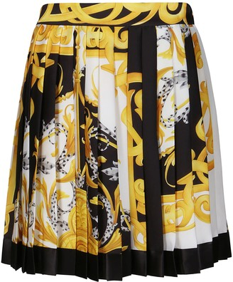 Versace Baroque Print Pleated Skirt