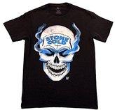 WWE Men's Legends Stone Cold Steve Austin 3 16 and Skull Licensed T-Shirt, Black, Medium