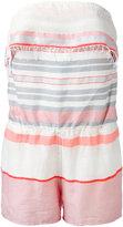 Lemlem stripe bandeau playsuit - women - Cotton/Spandex/Elastane - M