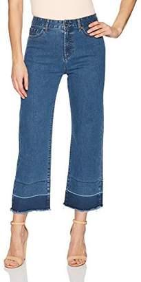 EVIDNT Women's LA Rochelle HIGH Rise Micro Flare Ankle Stretch Jeans