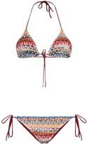 Zig-Zag Stripe Knit Bikini Set