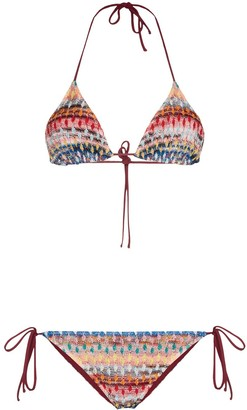 Missoni Mare Zig-Zag Stripe Knit Bikini Set