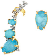Alexis Bittar Crystal-Encrusted Climber & Stud Earring Set, Turquoise