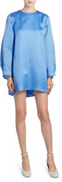 Nina Ricci Silk Crewneck Sheath Dress