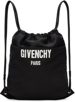 Givenchy Black Logo Drawstring Backpack