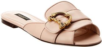 Dolce & Gabbana Leather Sandal