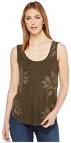 Lucky Brand Metallic Leaf Tank Top Women's Sleeveless