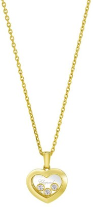 Chopard Yellow Gold and Diamond Happy Diamonds Icons Pendant
