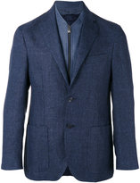 Corneliani three-button blazer - men - Linen/Flax/Cupro/Virgin Wool - 48