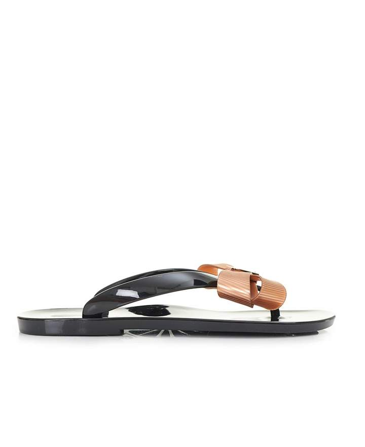 Ted Baker Bow Front Jelly Flip Flops