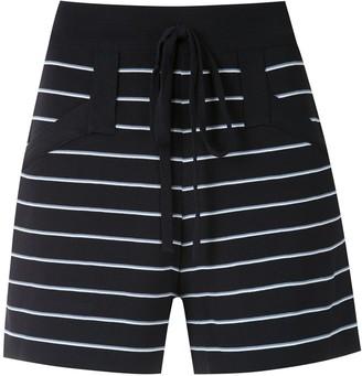 Egrey Striped Knit Shorts