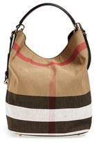 Burberry Medium Susanna Check Print Bucket Bag - Black