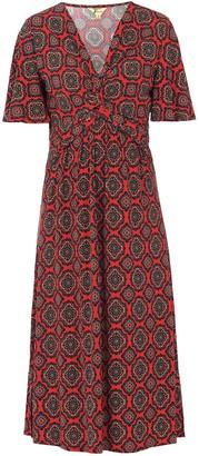 Wallis **Jolie Moi Red Abstract Print Midi Dress