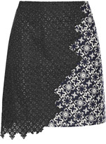 3.1 Phillip Lim Asymmetric lace mini skirt