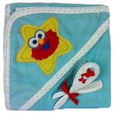 Sesame Street Elmo Hooded Bath Towel with Brush and Comb
