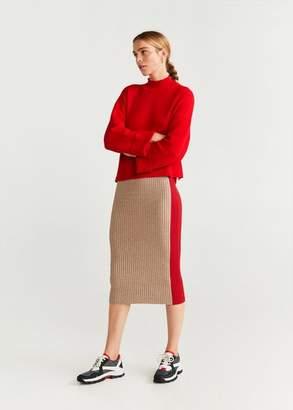 MANGO Ribbed knit sweater ecru - XS - Women