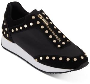 DKNY Avryl Studded Zipper Sneakers