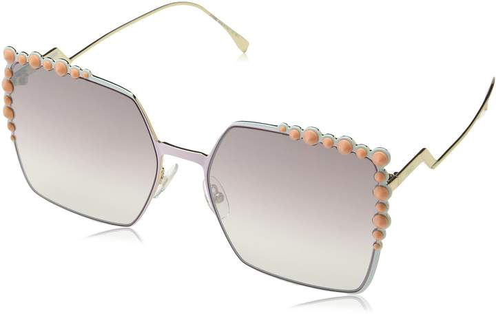 Fendi Sunglasses 0259/s 035J Pink With brown mirror gradient lens