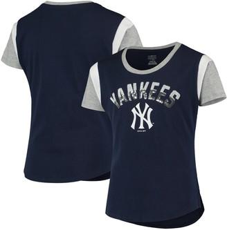 New York Yankees Girls Youth Navy Totally T-Shirt