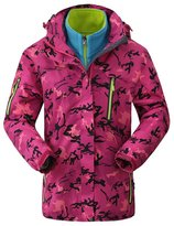 Buckdirect Worldwide Ltd. Plus Size Women Camouflage Waterproof Windproof Hooded Jacket