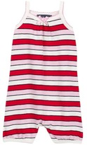 Toobydoo Positano Pink Striped Romper (Baby Girls)