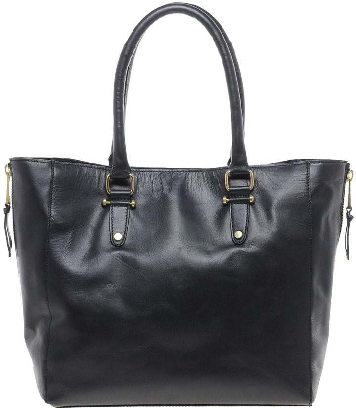 Warehouse Leather Bolt Shopper Bag