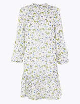 Marks and Spencer Chiffon Floral Mini Swing Dress