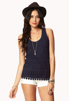 Forever 21 Essential Crochet Top
