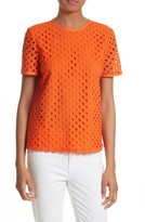 Tory Burch Women's Hermosa Eyelet Front Tee