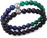 Steve Madden Men's 2-Pc. Multi-Beaded Bracelet Set