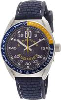 Christian Audigier Men's Garage Parts ETE-121 Blue Rubber Quartz Watch with Dial