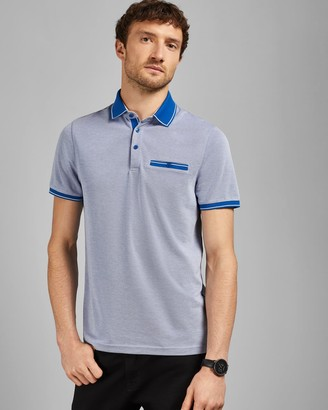 Ted Baker Flat Knit Polo Top
