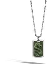 John Hardy Naga Large Dog Tag Necklace with Nephrite Jade