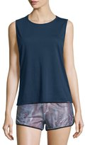 Koral Activewear Aura Strappy-Back Performance Tank, Midnight Blue