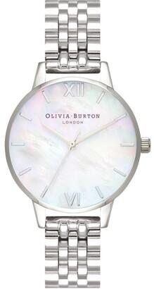 Olivia Burton OB16MOP02 Mother Of Pearl Bracelet Silver