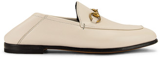 Gucci Leather Horsebit Loafers in Mystic White | FWRD