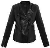 Leon Francis Raork leather and scuba biker jacket