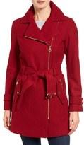 MICHAEL Michael Kors Belted Asymmetrical Wool Blend Coat