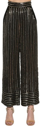 Temperley London Sequined Wide Leg Pants