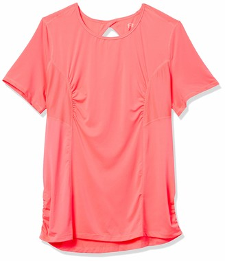 Fruit of the Loom Fit for Me Women's Plus Size Breathable Shirred Performance Mesh T-Shirt