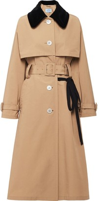 Prada Single-Breasted Belted Trench Coat