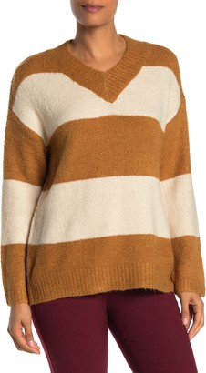 Philosophy di Lorenzo Serafini Stripe V-Neck Sweater