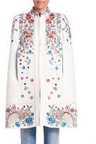 Roberto Cavalli Cotton Embroidered Cape