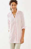 J. Jill Mixed-Stripes Shirttail Tunic
