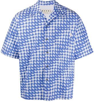Marni x Smiley smile-print short-sleeve shirt
