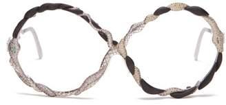Francis De Lara - Three Serpents Sapphire, Emerald & Diamond Glasses - Womens - Silver