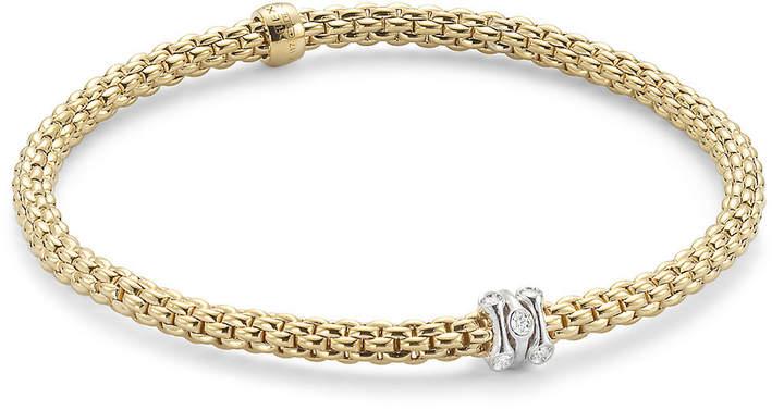 e334ea5c5a78c Flex'it Yellow Gold Diamond Prima Bracelet- Size Medium